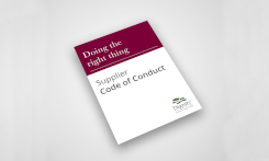 Image of a Supplier Code of Conduct book